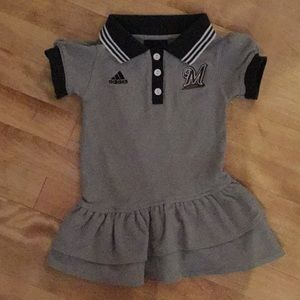 adidas size 2T Brewers dress